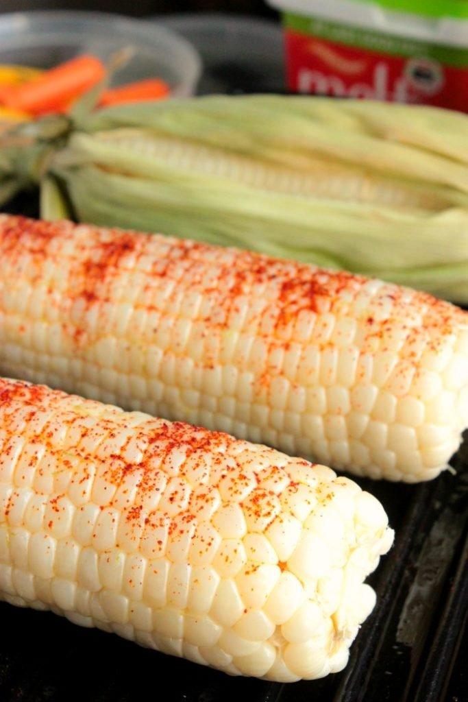 Grilled Corn with Chili Lime Buttery Spread
