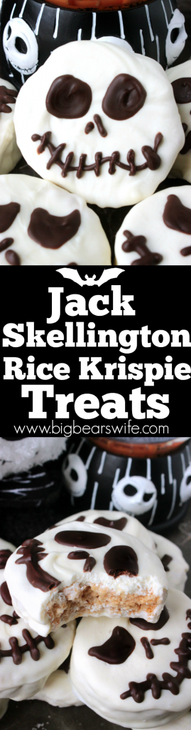 Jack Skellington Rice Krispie Treats