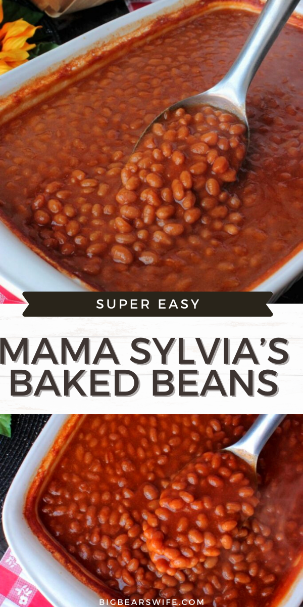 Mama Sylvia's Baked Beans recipe has been passed down through the generations and is loved by so many people! These baked beans take less than 5 minutes to put together and are out of the oven in under an hour! via @bigbearswife