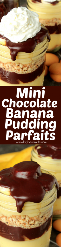 Mini Chocolate Banana Pudding Parfaits