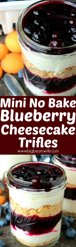 Mini No Bake Blueberry Cheesecake Trifles