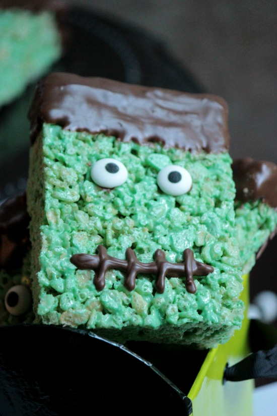 Frankenstein Rice Krispie Treat