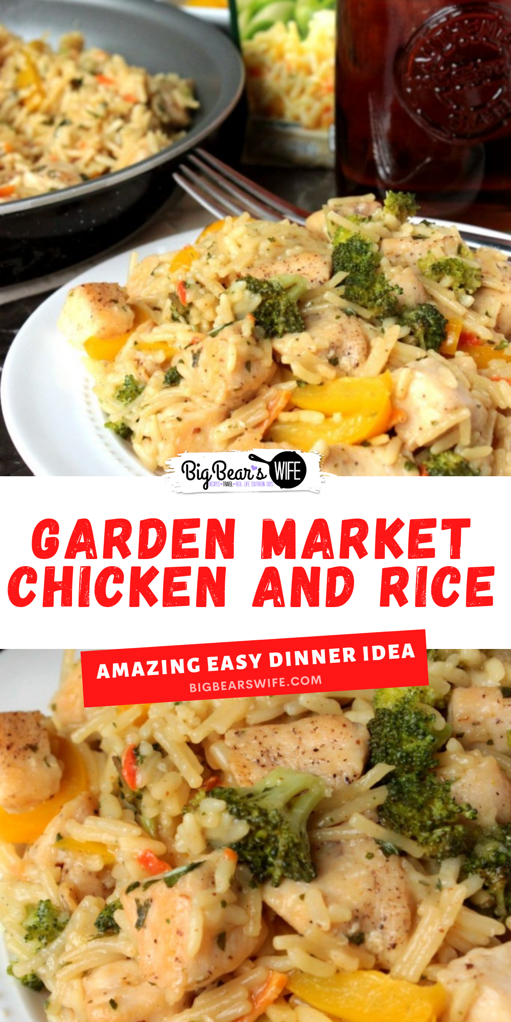 You're going to love how easy this Garden Market Chicken by Knorr® recipe is to make! It's simple to put together and quick enough for lunch or dinner! via @bigbearswife