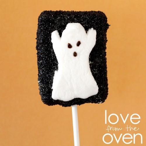 Ghost Peeps Rice Krispies Treats
