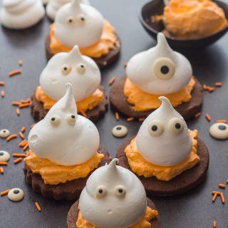 Meringue Ghost Chocolate Sugar Cookies