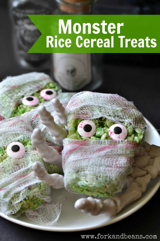 Green Monster Rice Cereal Treats