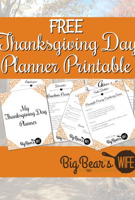Free Thanksgiving Day Planner Printable
