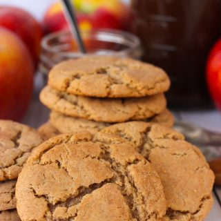 These Apple Butter Cookies are a mash up of snickerdoodles and sugar cookies! They're soft and chewy with a cinnamon sugar crust! Make them with store bought apple butter or homemade apple butter!