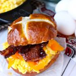 Candied Bacon Egg and Cheese Sandwiches
