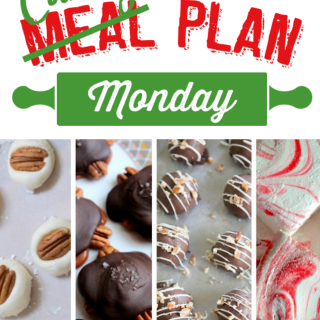 If you love to make homemade candy to give away to friends and family during the holiday season you've hit the jackpot! This week's Meal Plan Monday has been transformed intoCandy Plan Monday!