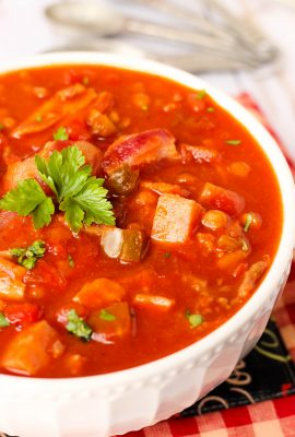 Maple Bacon and Ham Baked Bean Chili