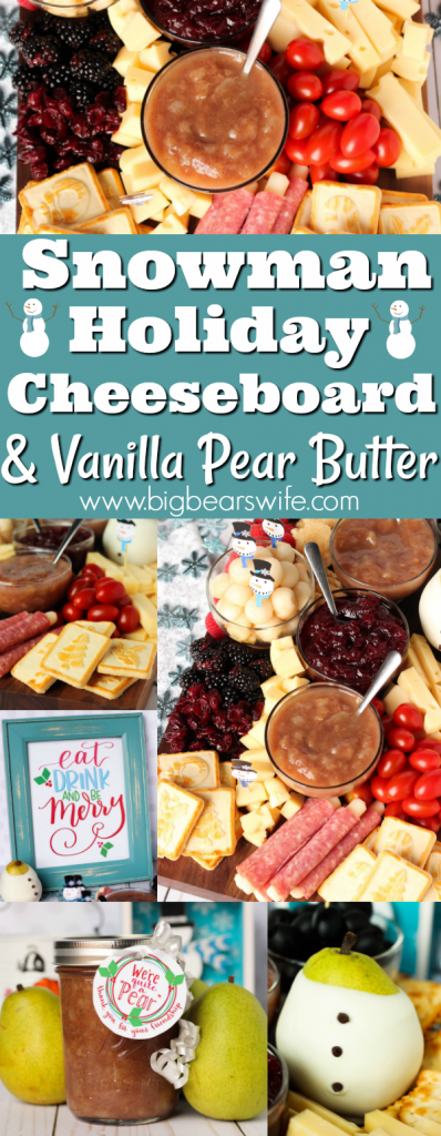 Perfect for Christmas or anytime during the winter, this Holiday Cheeseboard has got a little snowman theme and it's filled with tons of tasty treats to keep all of your party guests happy!