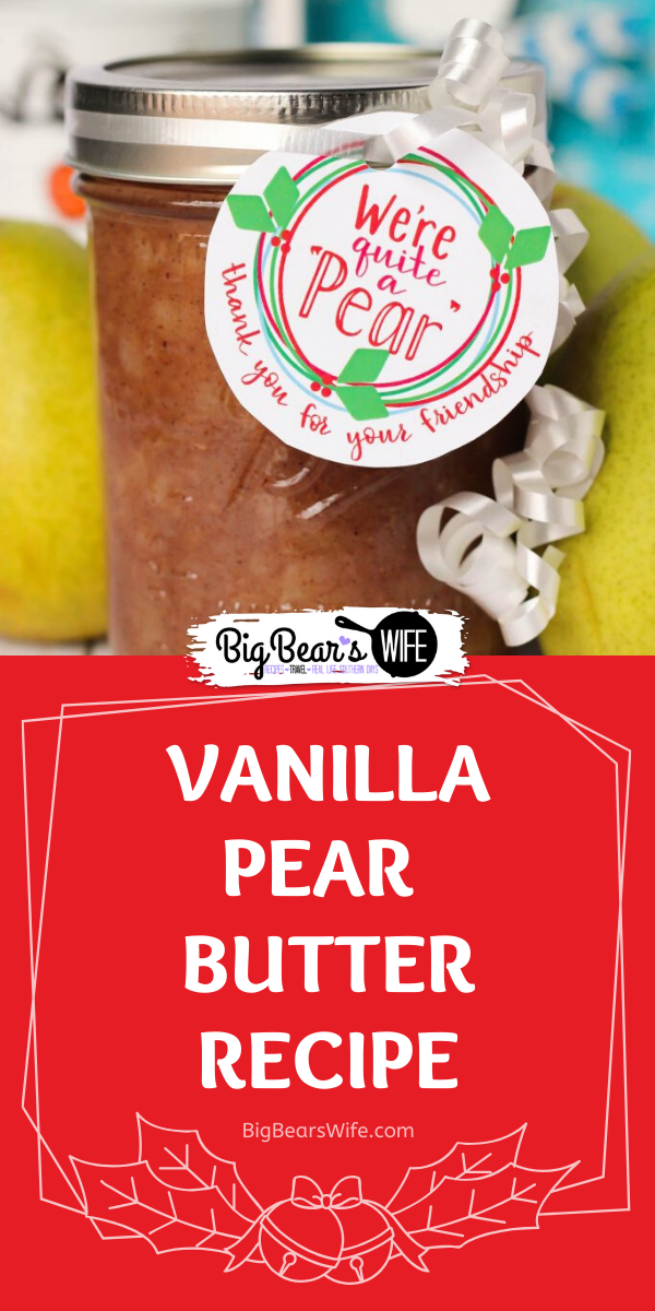 Vanilla Pear Butter