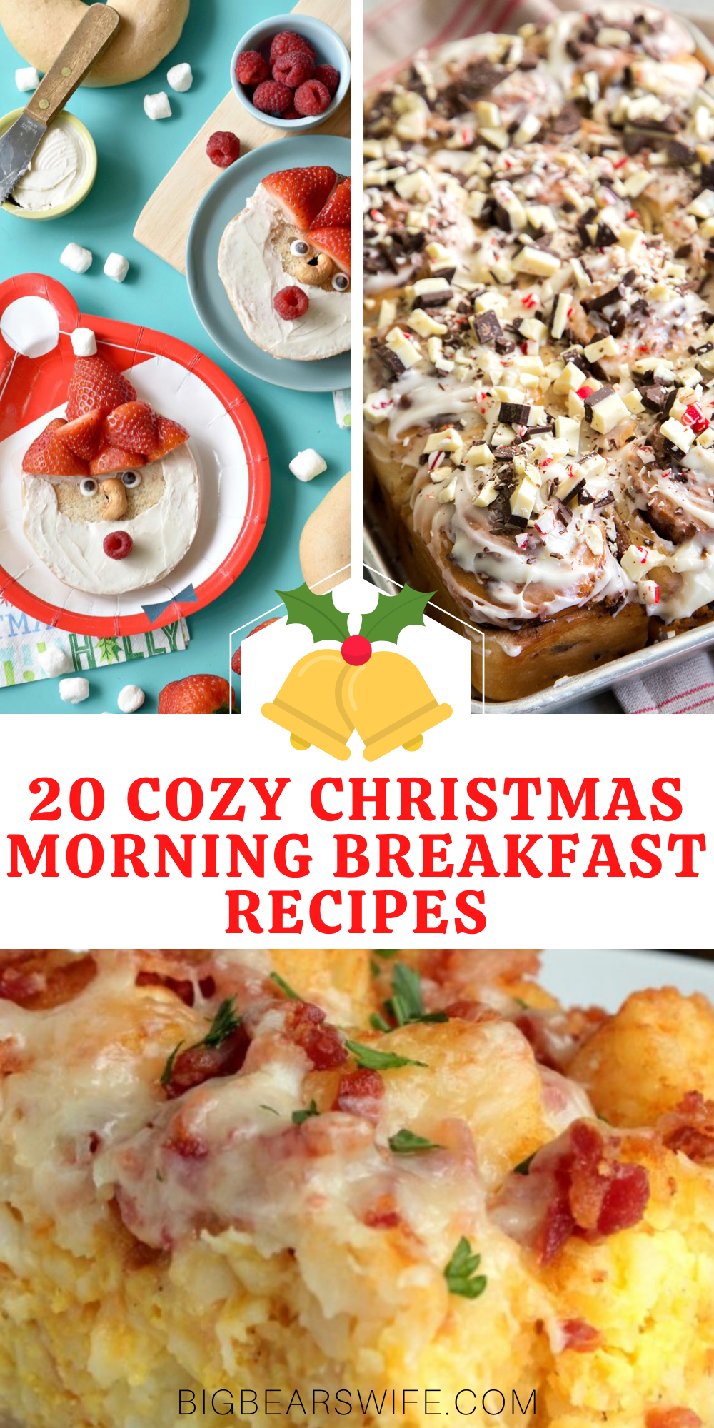 20 Cozy Christmas Morning Breakfast Recipes - We wish you a Merry Christmas, we wish you a Merry Christmas and a tasty morning breakfast! Keep the holiday spirit going on Christmas morning with one of these 20 Cozy Christmas Morning Breakfast Recipes! via @bigbearswife