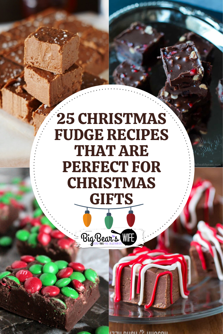 25 Christmas Fudge Recipes that are perfect for Christmas Gifts - Homemade gifts from the kitchen are always some of the best gifts that you can give or receive at Christmas! This list has 25 Christmas Fudge Recipes that are perfect for Christmas Gifts or hostess gifts!