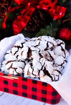 Mint Mocha Crackle Cookies