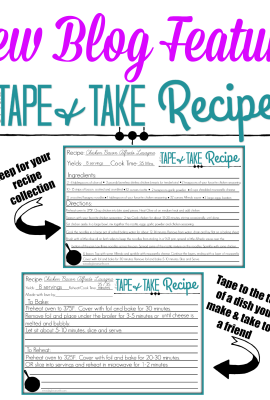 New Blog Feature: A Toni Tape and Take Recipe – Printable Recipe Cards