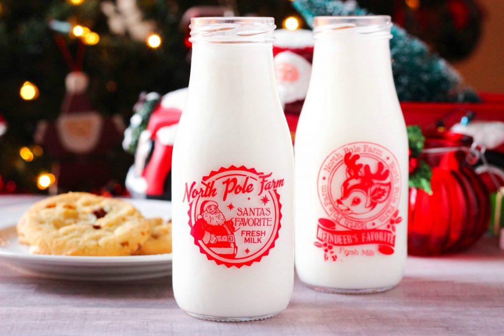 Santa Milk Bottles