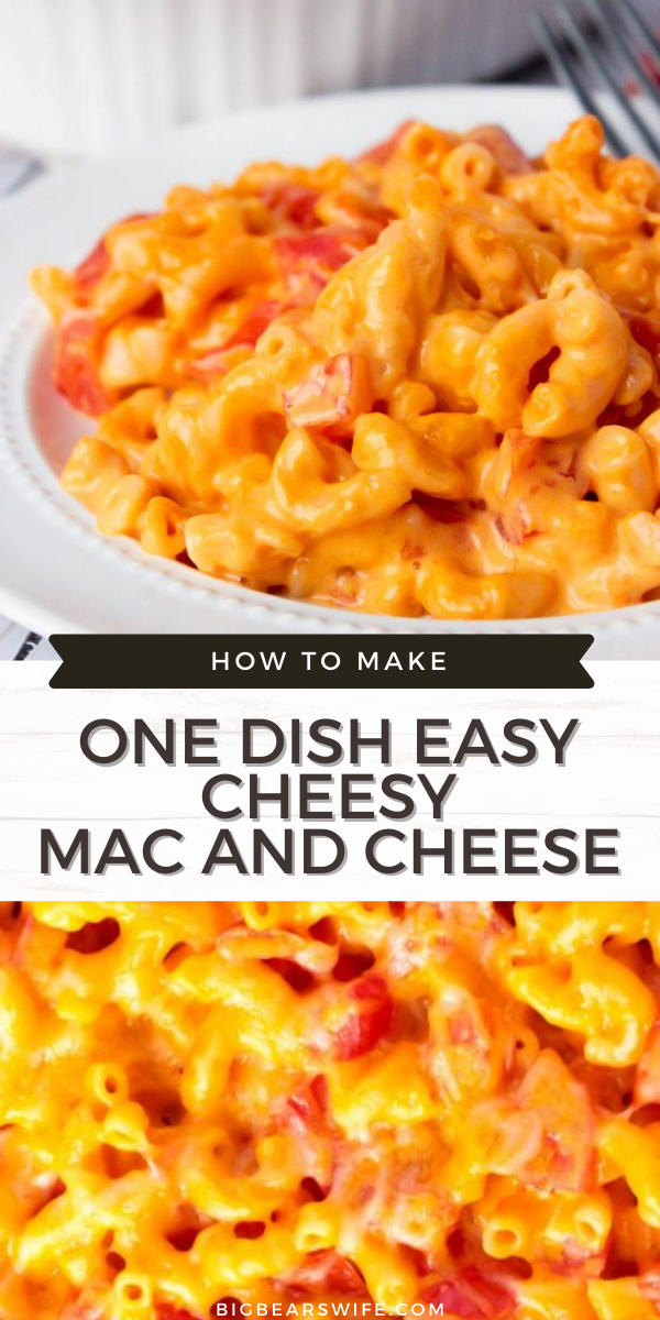ONE DISH EASY CHEESY 