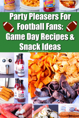 Party Pleasers For Football Fans: Game Day Recipes & Snack Ideas: Recipes and Snack Ideas for the big game! Having friends over? These easy recipes and snack ideas are perfect for your get together!
