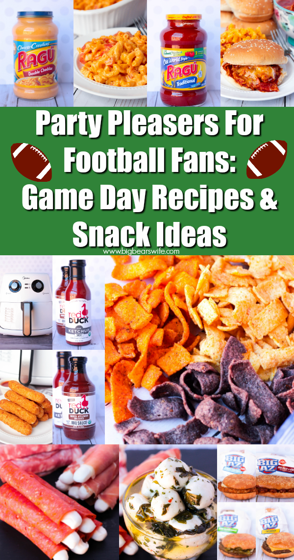 Party Pleasers For Football Fans Game Day Recipes Snack Ideas