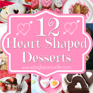 """12 Heart Shaped Desserts - Surprise your loved one with one of these darling heart themed desserts for Valentines Day, your Anniversary or just to say, """"I Love You!"""" With 12 Heart Shaped Desserts here, I bet you'll find one that YOU love as well!"""
