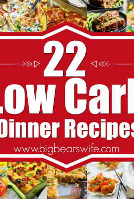 20 Low Carb Dinner Recipes- Wanting to cut some of the carbs out of your diet but not sure where to start or which recipes to make? I'm glad you're here! I've got 20 Low Carb Dinner Recipes here that you're going to love!