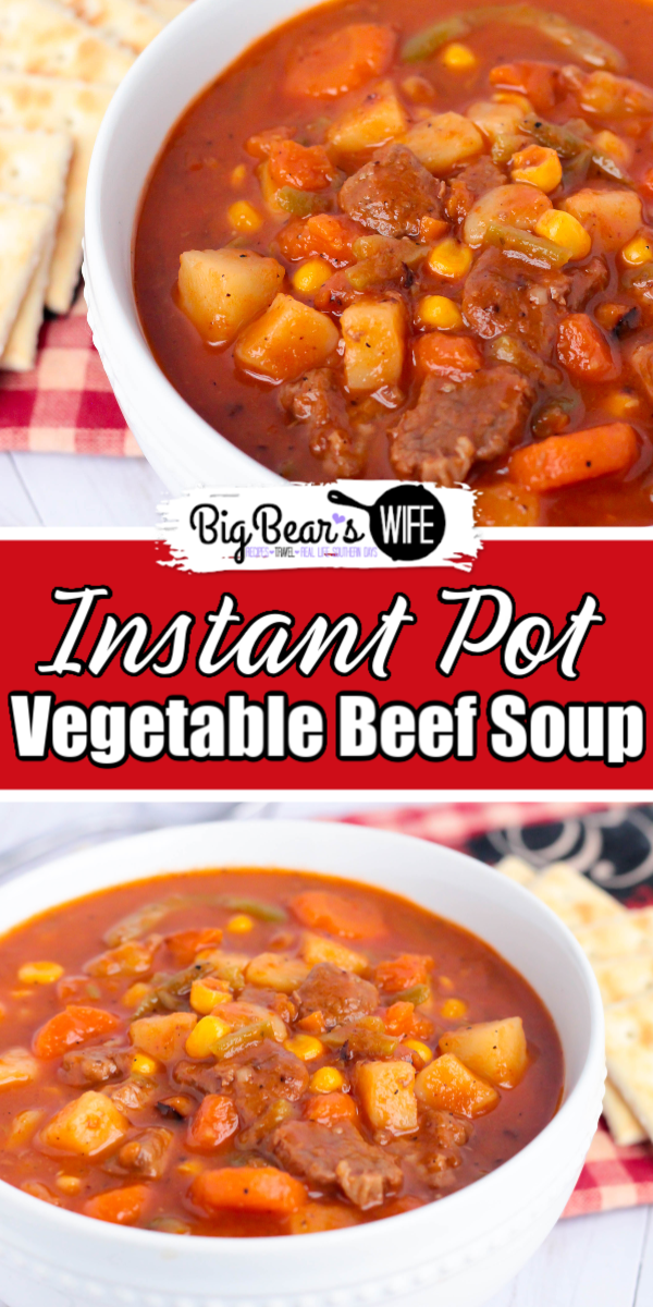 Vegetable Beef Soup is one of those meals that immediately makes me think of my parents and grandparents. It's perfect for a snowy winter night, a rainy spring afternoon, or a crisp fall lunch date. Or if you're like me, you'll enjoy this Vegetable Beef Soup during the summer too! Best part? This Vegetable Beef Soup is Instant Pot Vegetable Beef Soup!