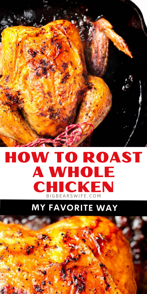 There are tons of ways to roast a chicken but this is My Favorite Way to Roast a Whole Chicken! It's great to eat as is, perfect for topping salads, chicken pot pie or chicken salad!