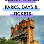 Disney Vacation Planning Series: Picking Your Disney World Parks, Days and Tickets