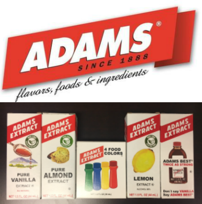 Adams Extracts products.