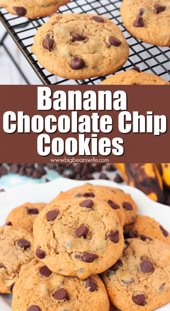 Banana Chocolate Chip Cookies PIN IT GRAPHIC