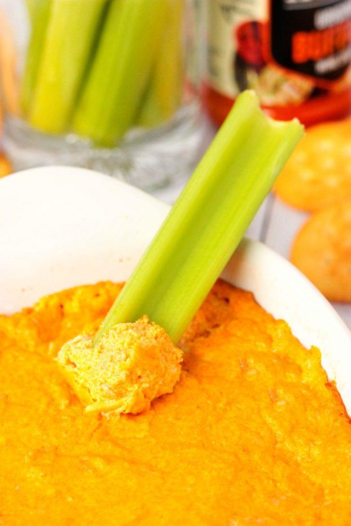 Buffalo Chicken Dip and celery