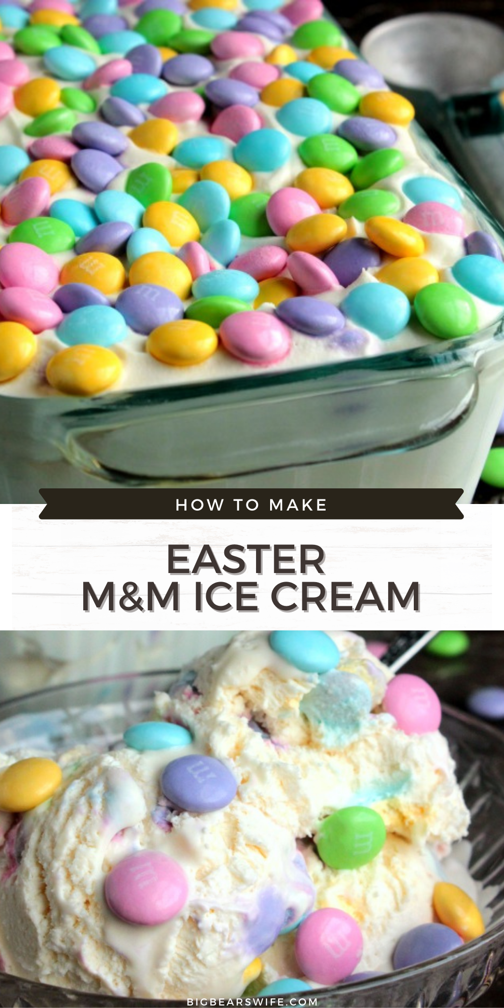 This Easter Ice Cream is made in less than 10 minutes, freezes in about 5 or 6 hours and it doesn't require an ice cream machine!    via @bigbearswife