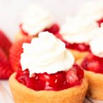Fresh Strawberry Pie Cookie Cups #EasterSweetsWeek