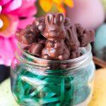 Homemade Mini Chocolate Caramel Bunnies