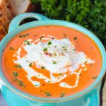 Homemade Tomato Bisque with Crab Meat