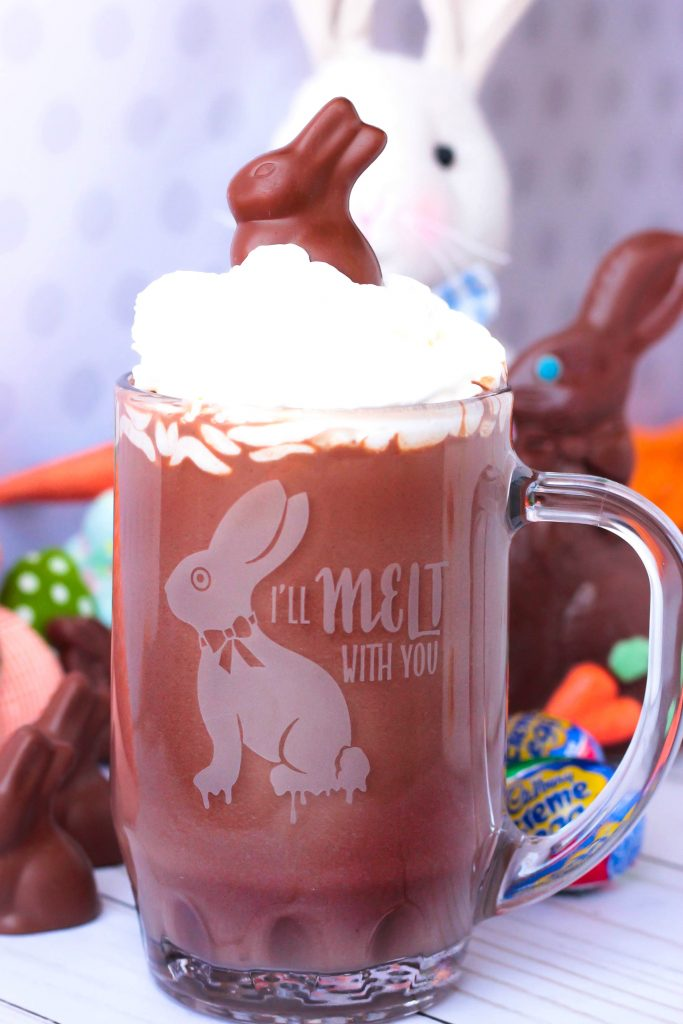 Melted Chocolate Bunny Hot Chocolate