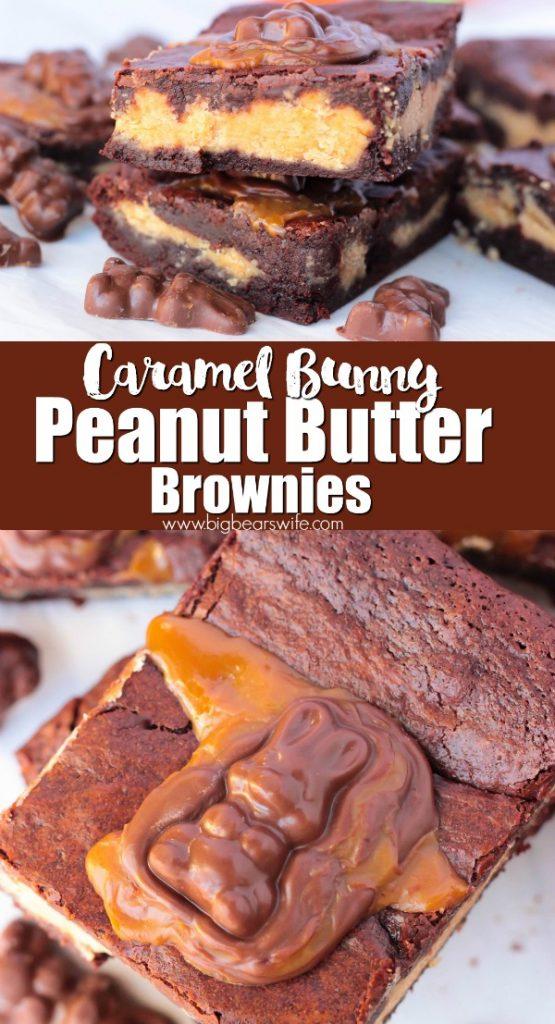 Caramel Bunny Peanut Butter Brownies