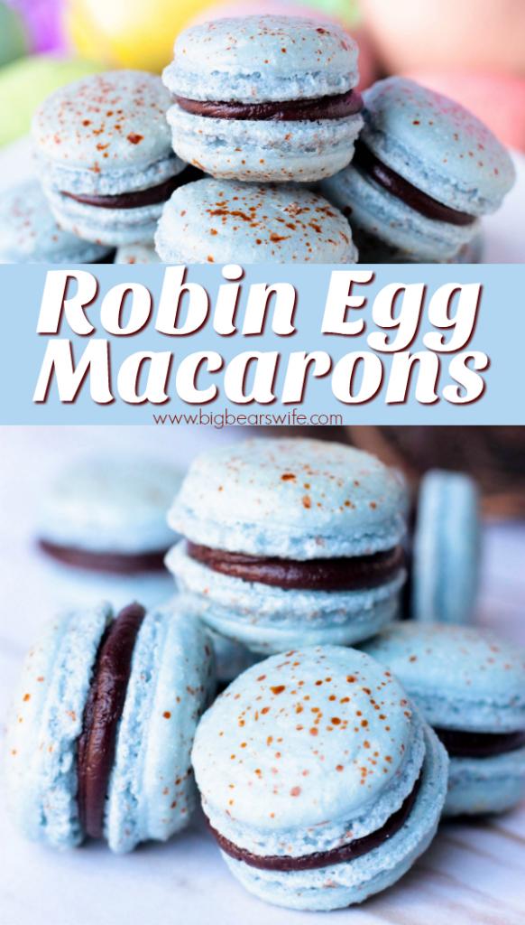 Robin Egg Macarons