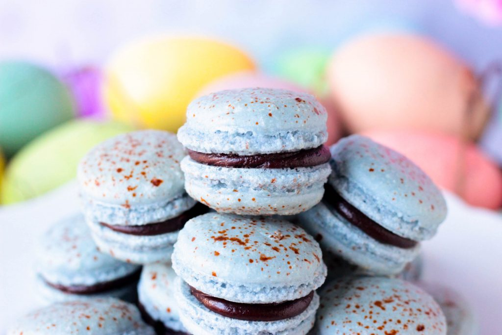 A Small Stack of Robin Egg Macarons