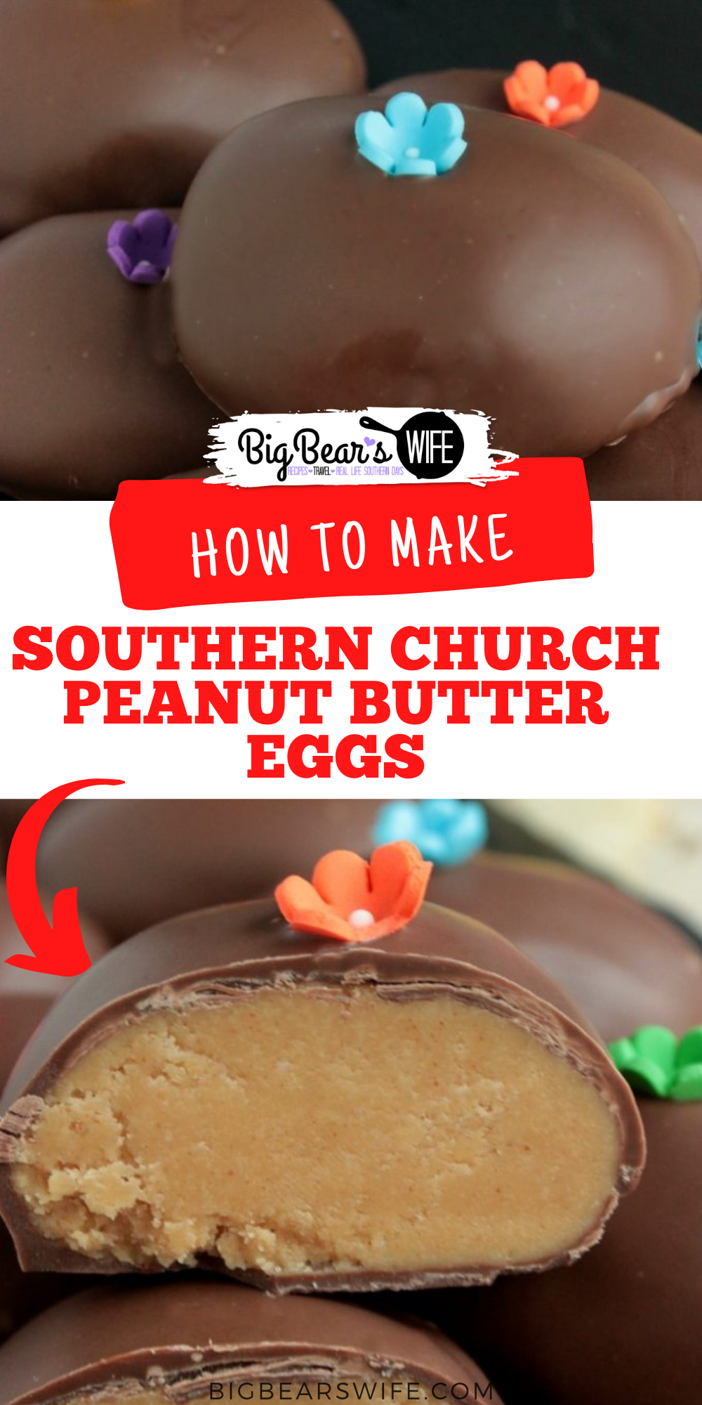 Love the Chocolate Peanut Butter Eggs that churches make around Easter time? These Southern Church Peanut Butter Eggs are just like those, they're perfect and taste amazing!   via @bigbearswife