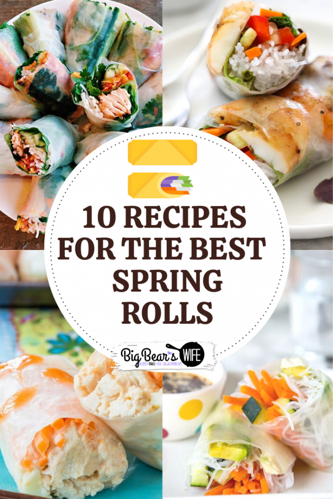 Spring Rolls are so pretty and I love all of the fillings that go inside of them before they're wrapped up. These are 10 Recipes for The BEST Fresh Spring Rolls that I've found!