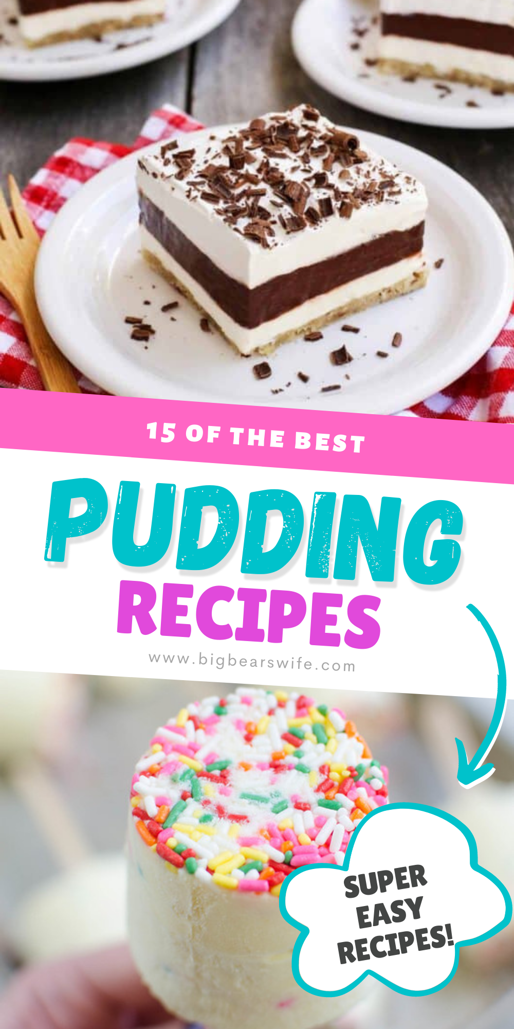 A collection of some of the BEST pudding desserts out there! Love pudding? Love layers of pudding in desserts? You're going to go crazy over these recipes!    via @bigbearswife