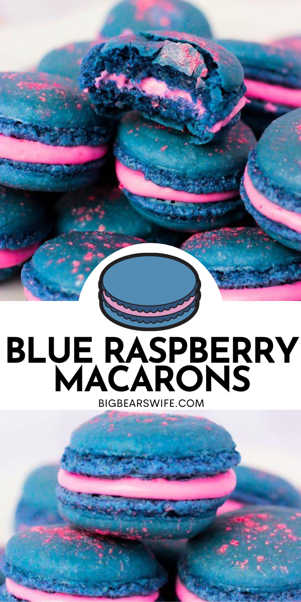 Love the crazy flavor that's known as Blue Raspberry? Crazy about macarons and want to make them at home? This macaron recipe is for you! You'll the colors and nostalgic flavor of these Blue Raspberry Macarons!