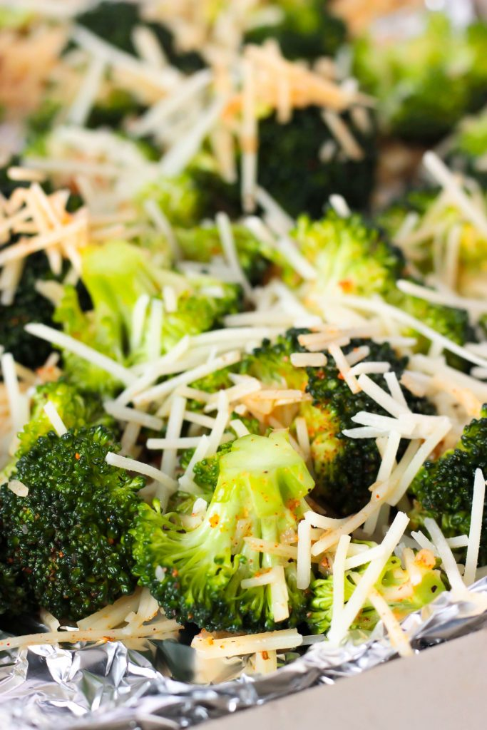 Crispy Garlic Parmesan Roasted Broccoli