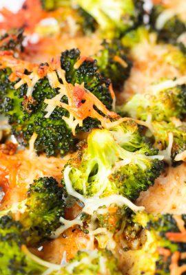 Crispy Garlic Parmesan Roasted Broccoli