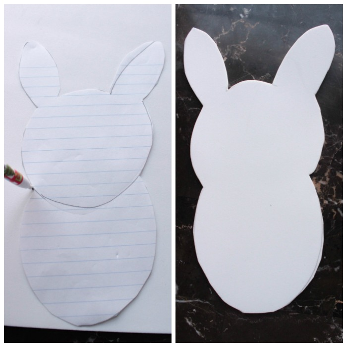 Easter Bunny Photo Footprint Craft DIY