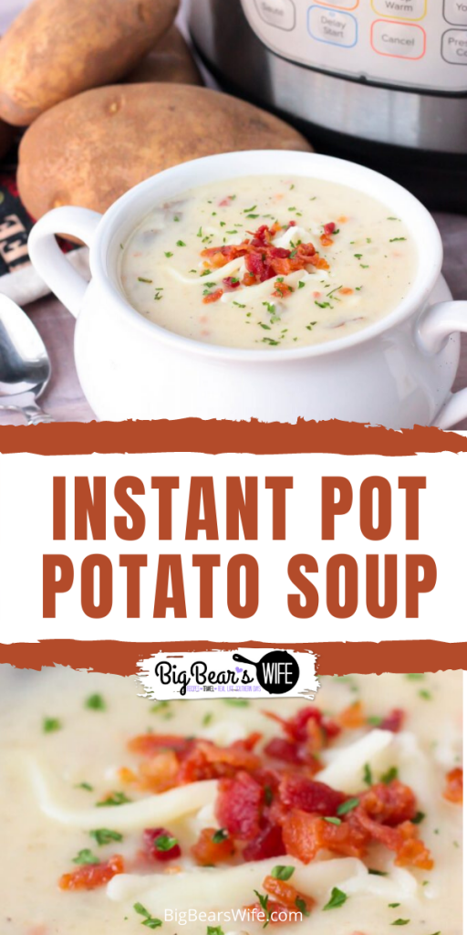ThisInstant Pot Potato Soup is pure comfort food and I love the fact that you can set the Instant Pot and walk away without babysitting this soup on the stove.