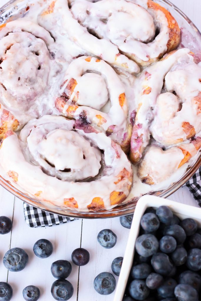 Shortcut Blueberry Cheesecake Cinnamon Rolls